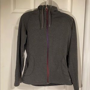 Danskin Grey Zip Up Sweater Size Large